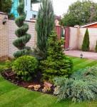 Посадка растений, стрижка, рулонный газон